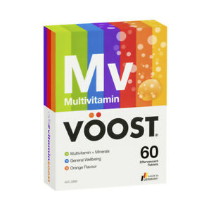 Voost Multivitamin + Minerals Orange 20 Effervescent Tablets 1 Pack