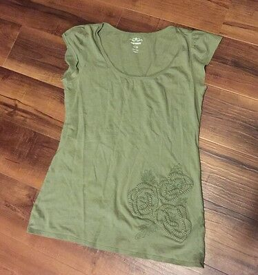 Old Navy olive green short sleeve top size M