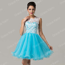 CHEAP! Short Bridesmaid Homecoming Formal Gown LACE Party Evening Prom Dresses
