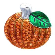 Autumn Fall Harvest Pumpkin Brooch Pin Thanksgiving Halloween Jewelry