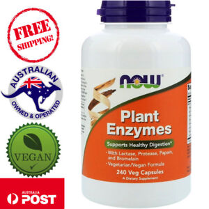 Now Foods Plant Enzymes, 240 Vegan Capsules - Supports Healthy Digestion*