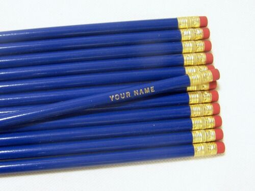 """12  /""""Round  /""""ROYAL BLUE/""""  Personalized Pencils"""