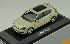 Opel Astra H 2004 2010 beige metallic 1:43 Minichamps Promo