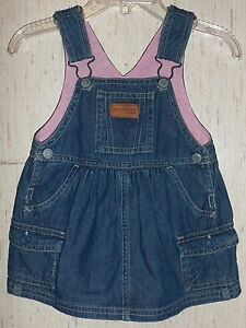 f6cfeeeb6c98 BABY GIRLS OSHKOSH BLUE JEAN JUMPER DRESS SIZE 6 Months
