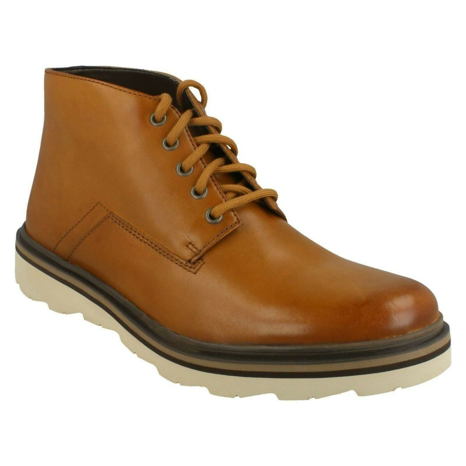 FRELAN MID MENS CLARKS EVERYDAY LEATHER CASUAL LACE UP ANKLE Stiefel Größe