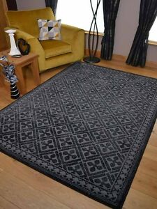 Pattern Black Grey Small Extra Large Big Huge Size Floor