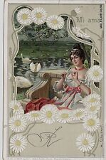 """# LIBERTY:  dis. H. SCHUBERT  """"MI AMA""""   1901"""