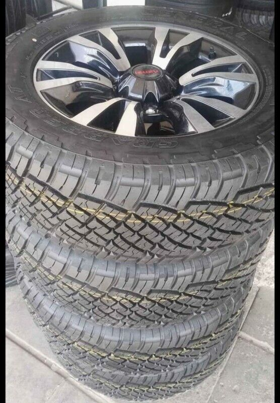 "18"" Isuzu X-Rider original mags with brand new 255/60/18 General Grabber AT set for R14350."