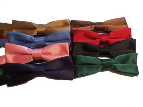 BEAUTIFUL BLACK SLIM READY TIED BOW TIE SILK JACQUARD OTHER COLOURS