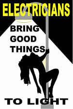 Electricians Bring Good Things To Light Hard Hat Sticker Ce 22