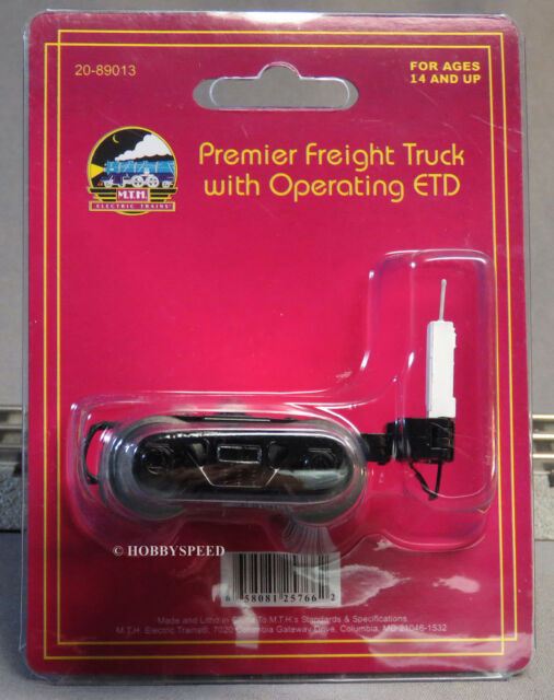 MTH PREMIER FREIGHT TRUCKS W OPERATING ETD O GAUGE train WHITE EOTD 20-89013 NEW