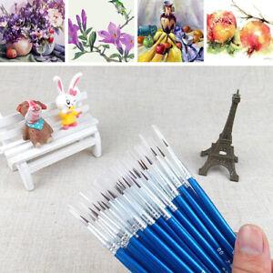 10x Set Fine Hand-Painted Thin Hook Line Pen Drawing Art Pens Paint Brush Tool