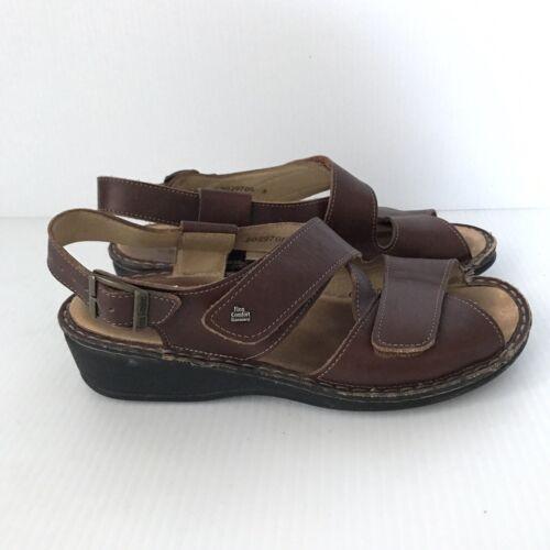 FINN COMFORT Womens Jersey Brown Leather Walking S