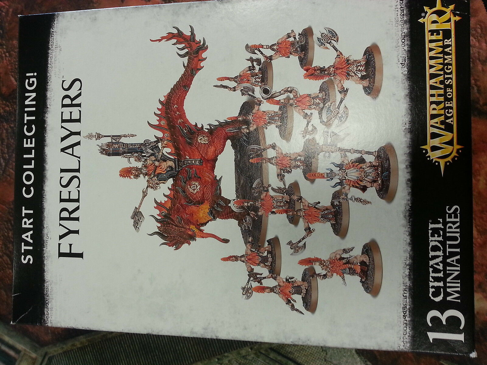 WARHAMMER AGE OF SIGMAR START COLLECTING FYRESLAYERS - NEW