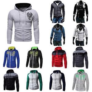 Men-039-s-Warm-Hoodie-Hooded-Sweatshirt-Coat-Jacket-Outwear-Jumper-Winter-Sweater