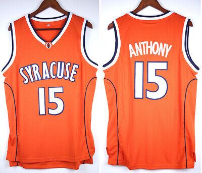 Carmelo Anthony 15 Large Syracuse Basketball Jersey Men S Orange Stitched S 3xl Ebay