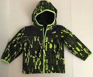 The North Face Tree Bark Camo Reversible Black Jacket Coat 2T NWT