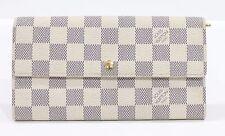Used Authentic Louis Vuitton LV Wallet Damier Azur
