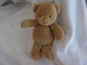 f86841100 carters precious firsts solid tan bear teddy plush lovey soft toy ...