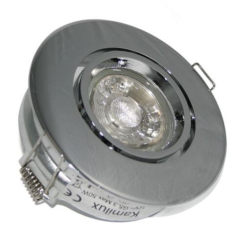230V Decke Einbaustrahler gross Toni /& 5W Power LED GU10 LM Lochmaß 90mm