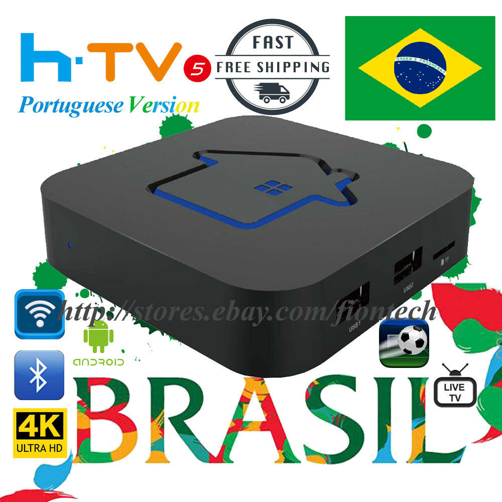s-l1600 2018 Newest HTV5  Brazilian Portuguese 4K IPTV Internet Live Brazil TV Box