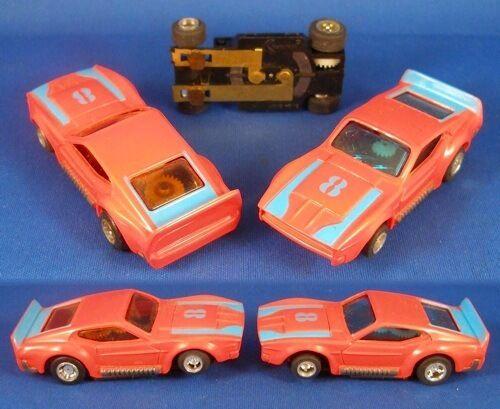 1970 s étrangers RARE Mustang Mach One ho slot car ORA bleu