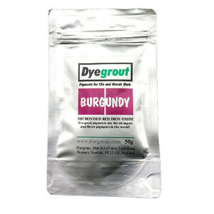 50-grams-Burgundy-Grout-Pigment-for-Mosaics-Cement-Dye-by-Dyegrout