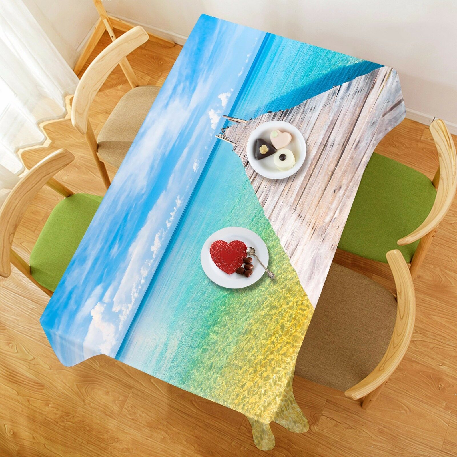 3D Sky beach90 Tablecloth Table Cover Cloth Birthday Party Event AJ WALLPAPER AU
