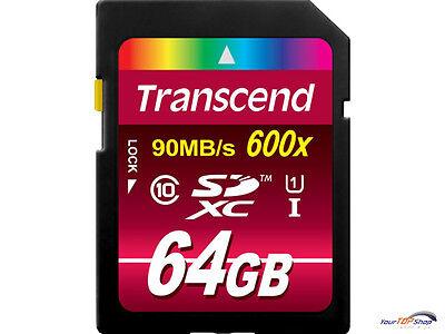 Transcend SDXC UHS-I 64 GB Speicherkarte 64GB TS64GSDXC10U1 Class 10 UHS 1 600x