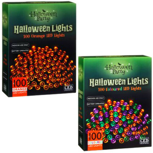 New Halloween LED Lights 100pk decorate your home home glorious set of lights