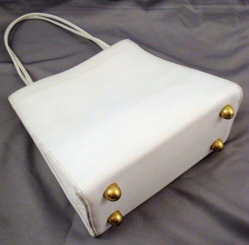 Vintage 1960's Classic COACH BONNIE CASHIN White L