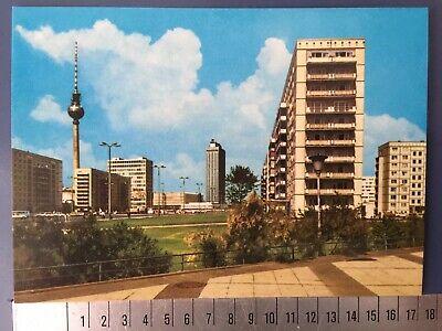 1 DDR Postkarte Hotel Berlin GDR Postcard Weltzeituhr Alexanderplatz Centrum
