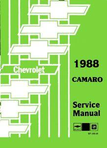 1988 chevrolet camaro shop service repair manual engine drivetrain rh ebay com 1989 Camaro 1989 Camaro