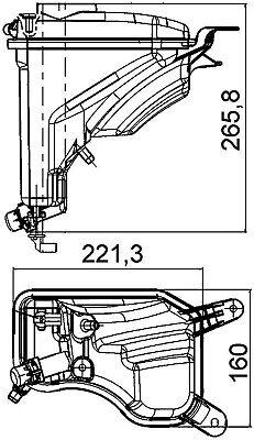 BMW Behr Hella Service 376789751 Engine Coolant Reservoir