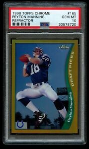 1998-Topps-Chrome-Peyton-Manning-Refractor-Rookie-PSA-10-Gem-Mint-RC