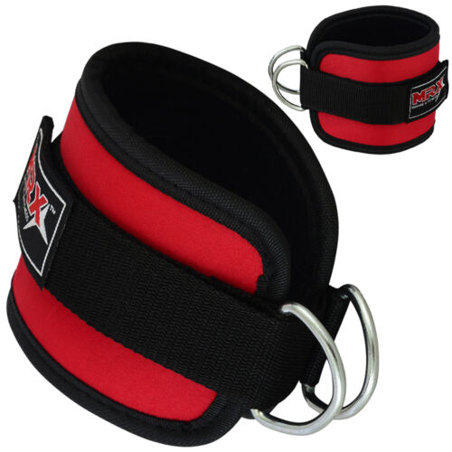 ANKLE D RING STRAPS Thigh Pulley Lifting Padded Multi Gym Bandage MRX Strap
