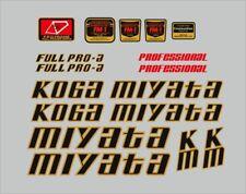 Metallic Gold sku Miya232 1 Pair Koga-Miyata FullPro Top Tube Decals