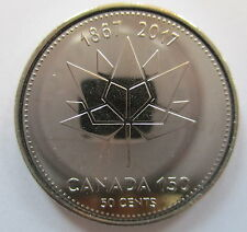 2017 CANADA 50¢ 1867-2017 150TH ANNIVERSARY OF CANADA BU HALF DOLLAR COIN