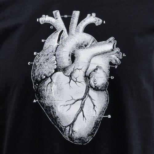LADIES STRAP VEST TANK TOP ANATOMICAL HEART VICTORIAN ILLUSTRATION MEDICAL  S-XL