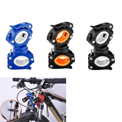 360° Cycle Bicycle Light Lamp Torch LED Flashlight Mount Bracket Holder Clip E/&F