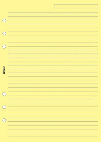 Filofax A5 Ruled Notepaper Yellow