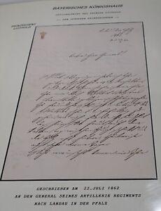 Nett Bavaria-sammlung: Briefe Von Prinzen, Aks, Briefmarken, Schmuckkarten Aus Bayern