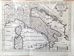Cartina Geografica Antica.Stampa Antica Carta Geografica Mappa Italia Ebay