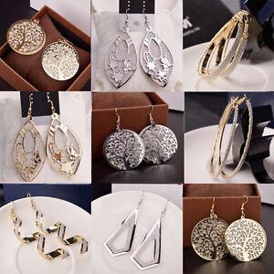 Elegant-Women-Lady-Hook-Earrings-Crystal-Ear-Stud-Dangle-Hoops-Jewelry-Gifts