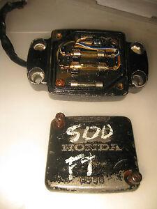 honda 1982 1983 ft500 ft ascot 500 handlebar mount fuse ... fuse box for honda civic 2001