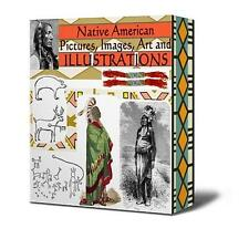 NATIVE AMERICAN INDIAN IMAGES ILLUSTRATIONS PICTURES ART (700)  VIDEOS (4) ON CD