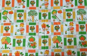 VTG-JUVENILE-NOVELTY-COTTON-BABIES-GIRLS-FABRIC-BRIGHT-44-X-45-1-25-YARDS