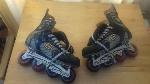 """Mission"" ""ProtoVS"" professional inline hockey skates in a uk size 10.5."