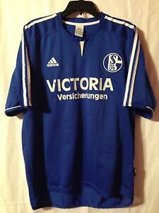 85ca046ad17 Image is loading adidas-FC-Schalke-04-Soccer-Football-XL-Jersey-