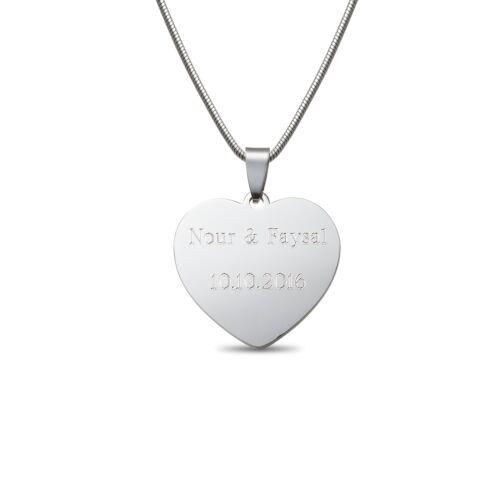 Remolque corazón cadena de acero inoxidable individualizado personal regalo de Navidad